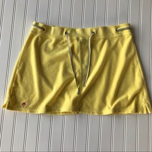 Lilly Pulitzer Yellow Terrycloth Skirt, Size L